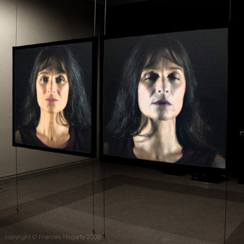 Frances Hegarty 'Auto Portrait #3' video installation 2000